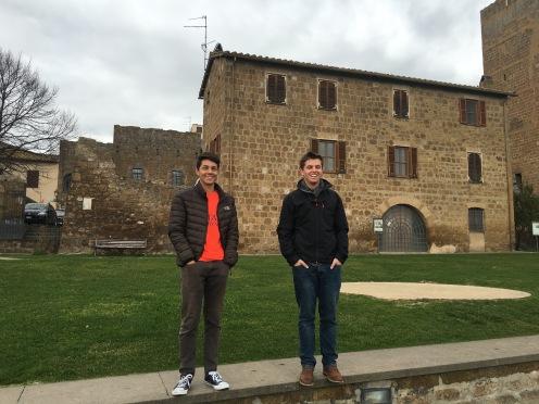 Canton and Luke in Tuscania