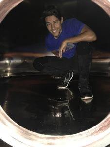 cleaning steel barrel