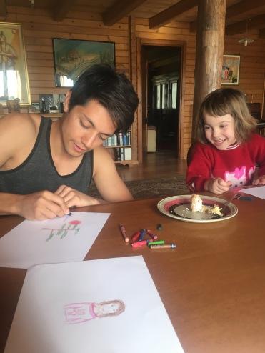 Luke drawing Francesca