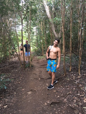 hiking in Waimea Canyon