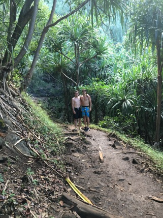 Sean and Luke on the Na Pali coast hiking trail