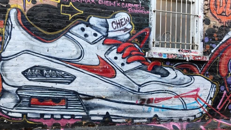 shoe mural